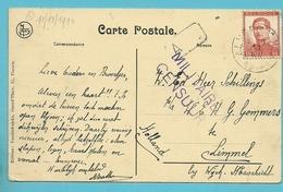 125 Op Kaart Stempel ALVERINGHEM Op 11/12/1914 Naar Limmel (Nederland), Stempel MILITAIRE CENSUUR