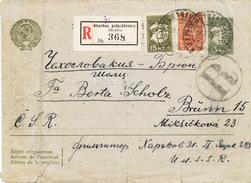 L3139 - USSR (1935) Kharkiv / Brno - Zidenice (R-letter To Czechoslovakia); Postal Stationery - 15 K. + 20 K.