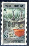 WF 1985 N. 322 Missione Etno Archeologica MNH Cat. € 1.60 - Wallis E Futuna