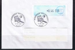 ATM, LISA1, LETTRE, 0.46€, Oblitérée, FDC, 10/02/2002, 3éme Biénale PHILATELIQUE DE PARIS 2002, - 1999-2009 Vignettes Illustrées