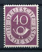 33548) BUND 40 Pfg. Posthorn Postfrisch Aus 1951, 140.- € - BRD
