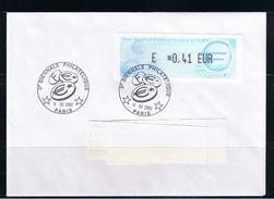 ATM, LISA1, LETTRE, 0.41 EUR, Oblitérée, 8/02/2002, 3éme Biénale PHILATELIQUE DE PARIS 2002, - 1999-2009 Vignettes Illustrées