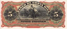 * COSTA RICA 5 COLONES 1908 P-S173r NEUF - Costa Rica