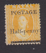 Natal, Scott #61, Mint No Gum, Victoria Surcharged, Issued 1877 - South Africa (...-1961)