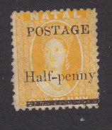 Natal, Scott #61, Mint No Gum, Victoria Surcharged, Issued 1877 - Natal (1857-1909)