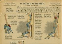 PARTITION COMPLAINTE CRIME DE LA RUE DE L'ÉCHELLE IMAGE ÉPINAL PELLERIN N°157 1891 ILL DÖES CHAT NOIR - Musique Folklorique