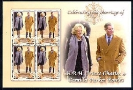 MINT NEVER HINGED STAMPS OF WEDDING OF PRINCE CHARLES & CAMILLA PARKER  ( GAMBIA   2950