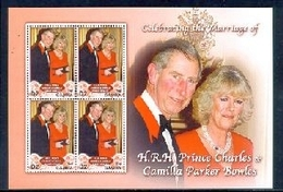 MINT NEVER HINGED STAMPS OF WEDDING OF PRINCE CHARLES & CAMILLA PARKER  ( GAMBIA   2952