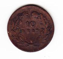 PORTUGAL KM 532, 1891, 10 REIS. (B407) - Portugal