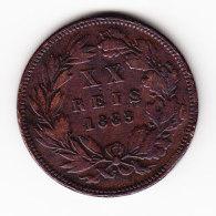 PORTUGAL KM 527, 1883, 20 REIS. (B409) - Portugal