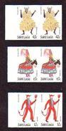 St Lucia 1985 Xmas - 3 Imperf Pairs - Costume - Donkey - Devil