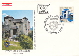 L3174 - Austria (1983) 6845 Hohenems: Rights And Liberties Of A City 1333-1983 (coat Of Arms, Castle Glopper)
