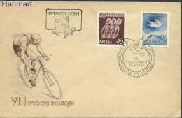 Poland 1955 Mi 905-906 FDC -  Peace Cycling  ( FDC ZE4 PLD905-906 )