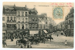 CP 29  DUNKERQUE LA RUE ALEXANDRE III 1905 - Dunkerque