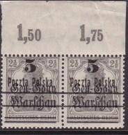 POLAND 1918  Form I Fi 8 Mint Never Hinged