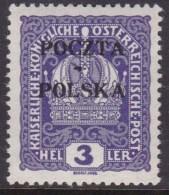 POLAND 1919  Krakow Forgery Fi 30 Mint Hinged