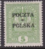 POLAND 1919  Krakow Forgery Fi 31 Mint Hinged