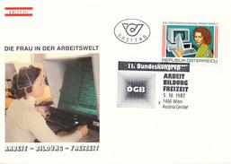 L3198 - Austria (1987) 1450 Wien Austria Center: Women In The World Of Employment