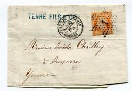 M26 ¨TAD 1868 PARIS PLACE DE LA BOURSE ETOILE 1 SUR NAPOLEON ORANGE 40 C - Postmark Collection (Covers)