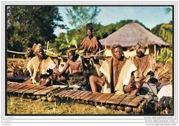 Natives Play Timbila And Marimba Instruments Music Zavala, Mozambique 1960-70s Moçambique ( 2 Scans) - Mozambique