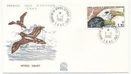 TAAF - Enveloppe FDC - 1,70 Petrel Geant - Martin De Vivies St Paul Amsterdam - 1-1-1986 - FDC