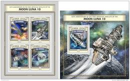 SIERRA LEONE 2016 ** Moon Luna 10 Space Raumfahrt Espace M/S+S/S - OFFICIAL ISSUE - A1703