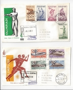 1960  ITALY ROME OLYMPICS COMPLETE FDC REGISTERED TO CANADA