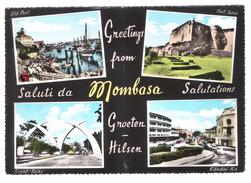 SALUTI DA MOMBASA - VIAGGIATA 1963 - (110) - Kenia
