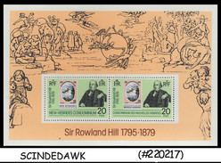 New Hebrides Nouvelles Hébrides - 1979 Death Centenary Of SIR Rowland Hill - Miniature Sheet MINT NH