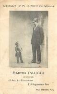 BARON PAUCCI L'HOMME LE PLUS PETIT DU MONDE 18 ANS ET 62 CENTIMETRES - Autres Célébrités