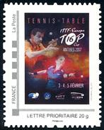 FRANCE 2017 - ITTF EUROPE TOP16 CUP Antibes(06) - Timbre ** - Tennis Table Tischtennis Tavolo - Frankreich