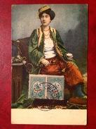 Femme Et Timbres  Turcs - Turquie