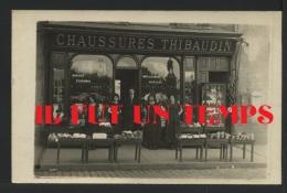 71 LE CREUSOT - Rue D'Autin - Fabricant De Chaussures THIBAUDIN VINCENT Devant Sa Boutique - CPA PHOTO - TOP RARE - Le Creusot