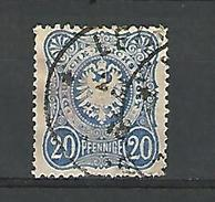 1875 / 77  N° 33  PFENNIGE AVEC E FINAL DOS CHARNIERE - Used Stamps