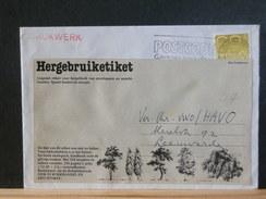 66/7156 BRIEF NEDERLAND  HERBRUIK ETIKET  1985 - Period 1980-... (Beatrix)