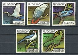 194 GABON 1971 - Yvert 278/82 - Oiseau - Neuf ** (MNH) Sans Trace De Charniere