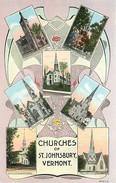 203593-Vermont, Saint Johnsbury, Churches Multi-View, Lincoln-Lillie By Curt Teich No 28081-N - United States