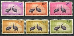 194 GUINEE 1961 - Yvert 63/68 - Pintades Volatile - Neuf ** (MNH) Sans Trace De Charniere