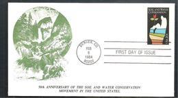 FDC 1984 50 ANNYVERSARY SOIL AND  CONSERVATION - Ersttagsbelege (FDC)