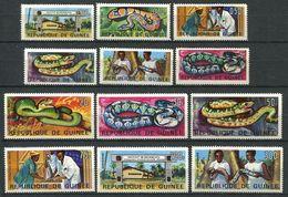194 GUINEE 1967 - Yvert 316/25 - Serpent Institut De Recherche - Neuf ** (MNH) Sans Trace De Charniere