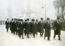 Paris Funerailles De Paul Painlevé Le Gouvernement Ancienne Photo Meurisse 1933
