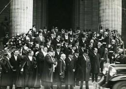 Paris Funerailles De Paul Painlevé Ministres Et Parlementaires Ancienne Photo Meurisse 1933
