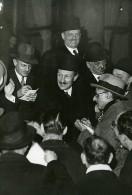 Paris Journalistes à La Sortie De L'Elysée Ancienne Photo Meurisse 1930