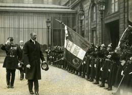 Paris Roi Du Danemark Christian X Reception A L'Elysée Ancienne Photo Meurisse 1930 - Famous People
