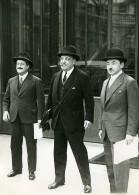 Paris President Lebrun Ministres Tardieu, Paul Reynaud Et Cathala Ancienne Photo Meurisse 1932