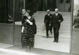 Paris Elysee Politique President Albert Lebrun Et Sa Femme Ancienne Photo Meurisse 1932