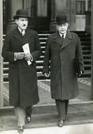 Paris Politiciens Ministres Germain Martin & Adrien Marquet Ancienne Photo Meurisse 1934