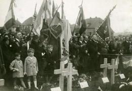 France Cimetiere De Cernay Ceremonie Franco-Tchecoslovaque Ancienne Photo 1930