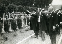 France Metz Chambieres President Albert Lebrun & Edouard Herriot Ancienne Photo Meurisse 1932