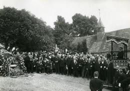 France Houlbec-Cocherel Edouard Herriot Enterrement D'Aristide Briand Ancienne Photo Meurisse 1932